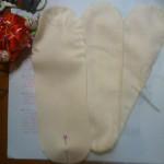 制作中の布ナプキン